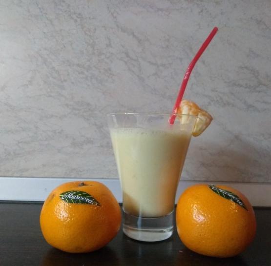 Мандариново-банановый смузи