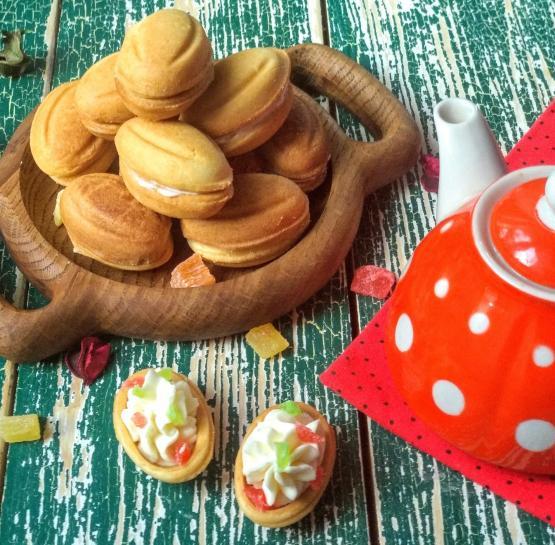 """Печенье """"Орешки"""" с творожным кремом и цукатами"""
