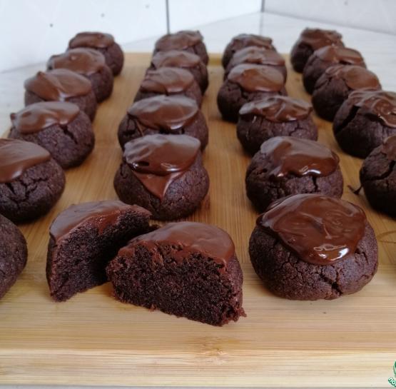 Мокрое шоколадное печенье