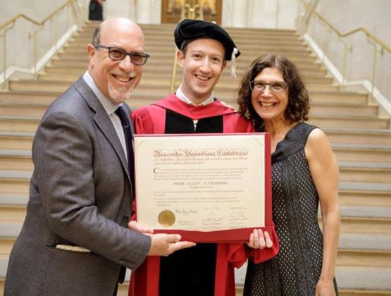Zuckerberg receives honorary Harvard degree after dropping out