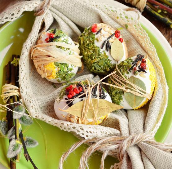 Эко-декор пасхальных яиц