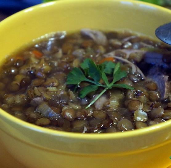 Суп из чечевицы с индейкой