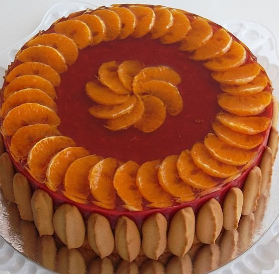 Торт постный яблочно-вишневый