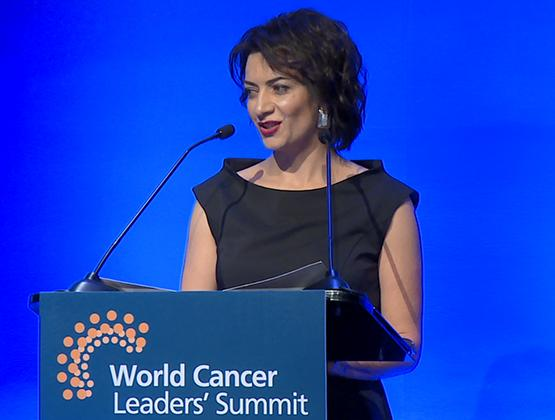 Armenian PM's spouse delivers speech at World Cancer Leaders' Summit