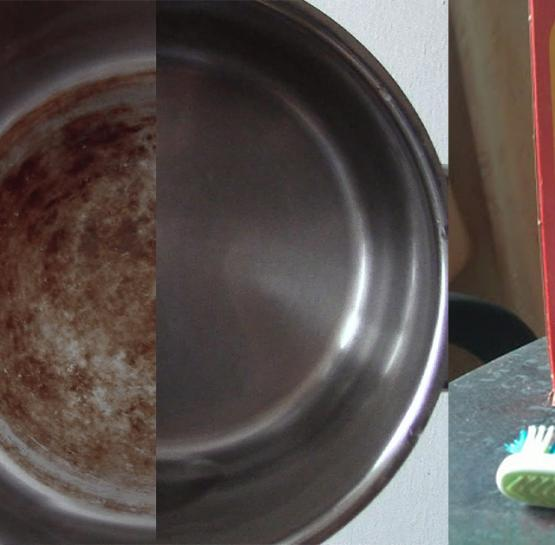 Սոդայի միջոցով մաքրեք կաթսայի ամբողջ յուղն ու կեղտը և փայլեցրեք այն